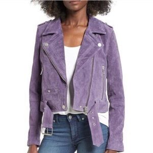 Blank NYC purple haze purple suede moto jacket